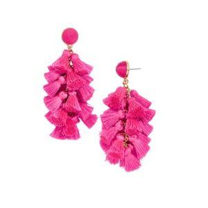 BaubleBar Hot Pink Contessa Tassel Earrings